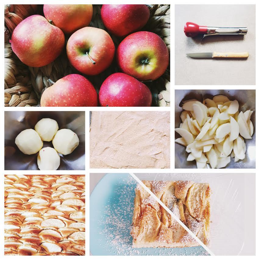 Apfelkuchen zuckerfrei backen, Anleitung