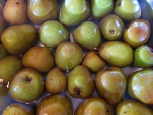 uckerreduzierte Birnenmarmelade frische Birnen waschen, Bio