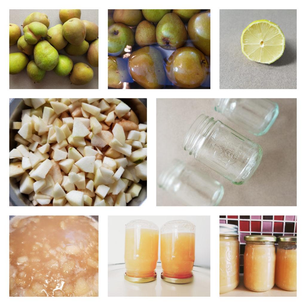 zuckerreduzierte Birnenmarmelade - Birnenmarmelade-Herstellung-Einkochen