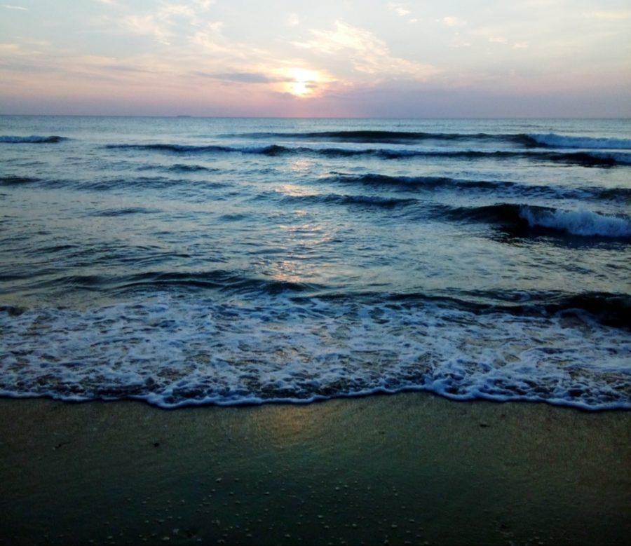 Strand-Sonnenuntergang,
