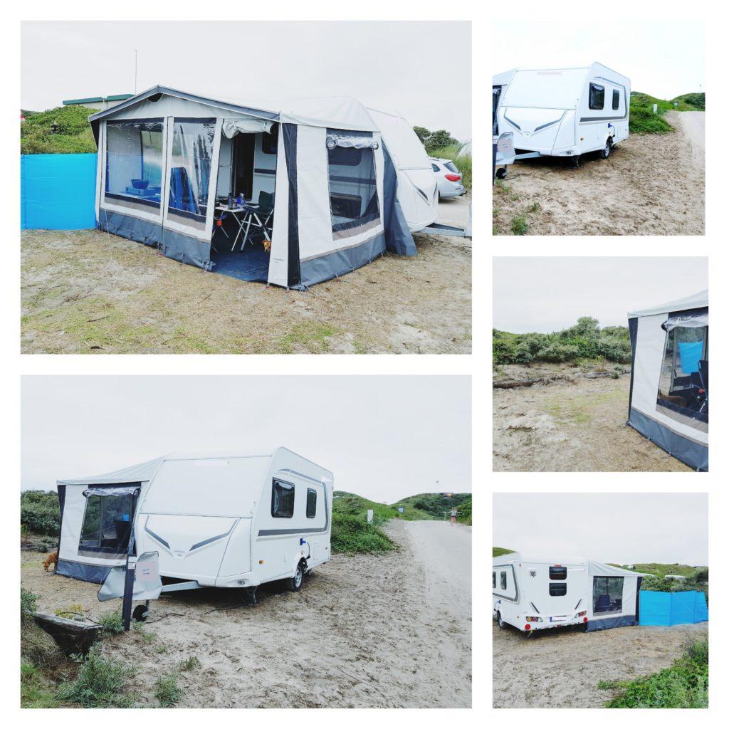 Wohnwagen - nachhaltig reisen - Collage