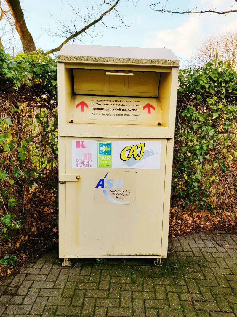 Altkleider für den Müll